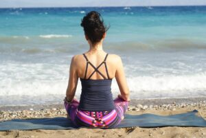 meditating endurance athlete