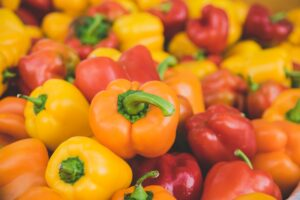 Bell peppers contain vitamin C